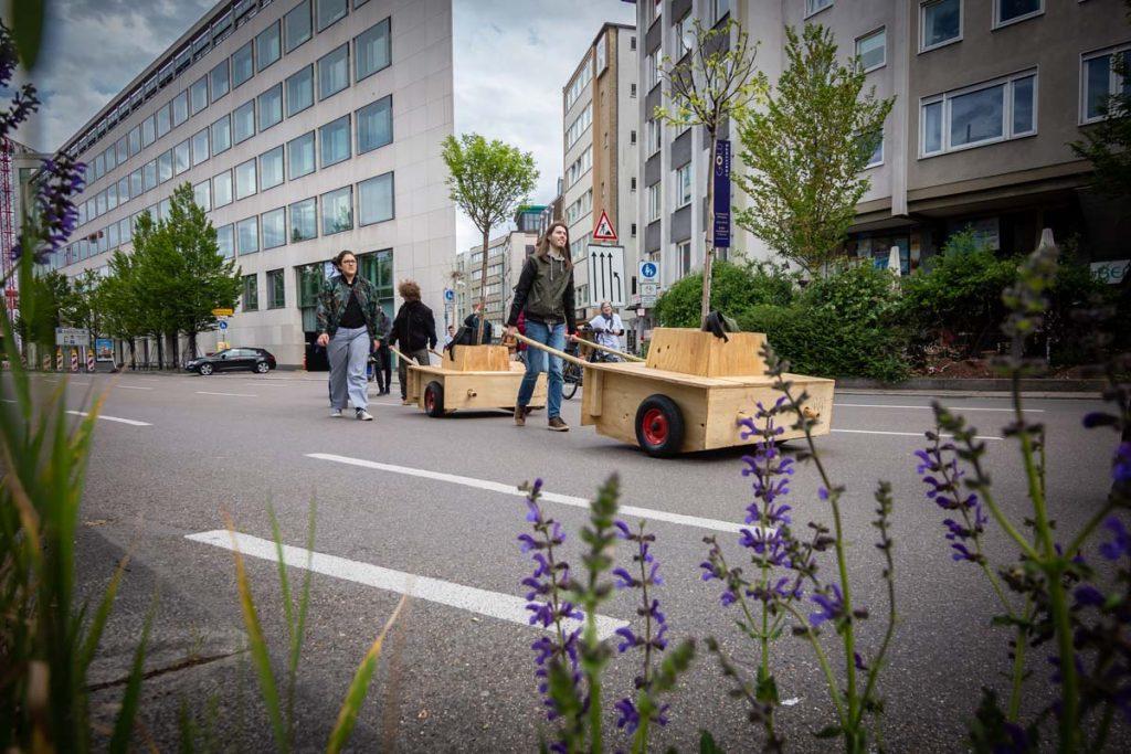 Wunderbaumallee schlägt Wurzeln in Stuttgart: Bäume auf der ersten Wanderung in Stuttgart